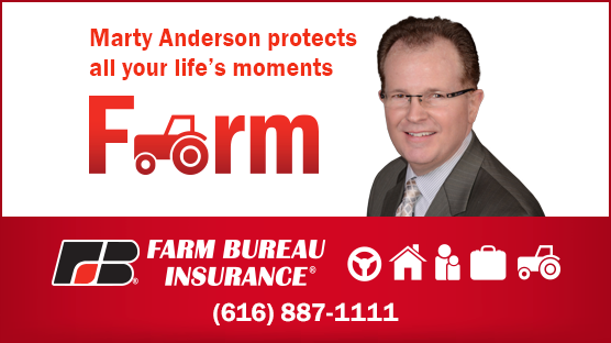 Marty Anderson, Farm Bureau Insurance 616-887-1111