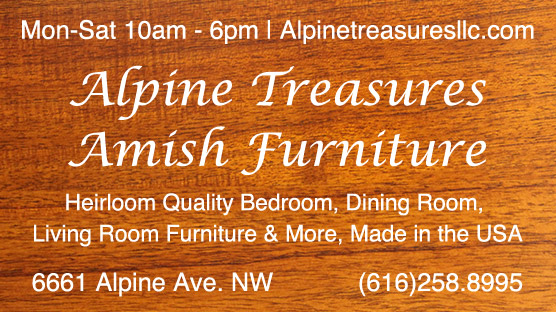 Alpine Treasures Amish Furniture ad